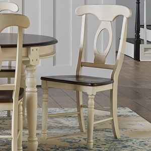 Two-Tone Napoleon Dining Side Chair