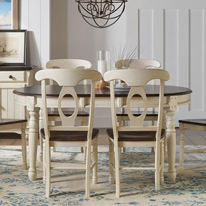Oval Leg Dining Table with Two Leaves