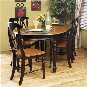 7 Piece Oval Leg Table with Chairs