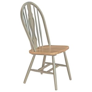 AAmerica British Isles Keyhole Side Chair with Cleat Base
