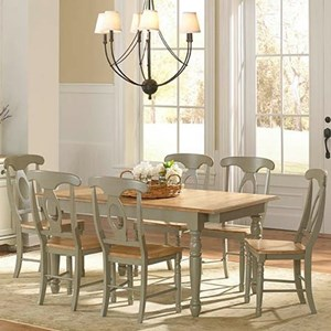 AAmerica British Isles 7 Piece Dining Table and Chair Set