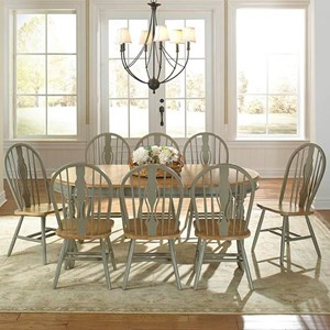 AAmerica British Isles 9 Piece Dining Table and Chair Set