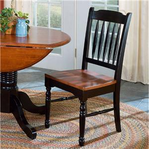 Two-Tone Slatback Dining Side Chair