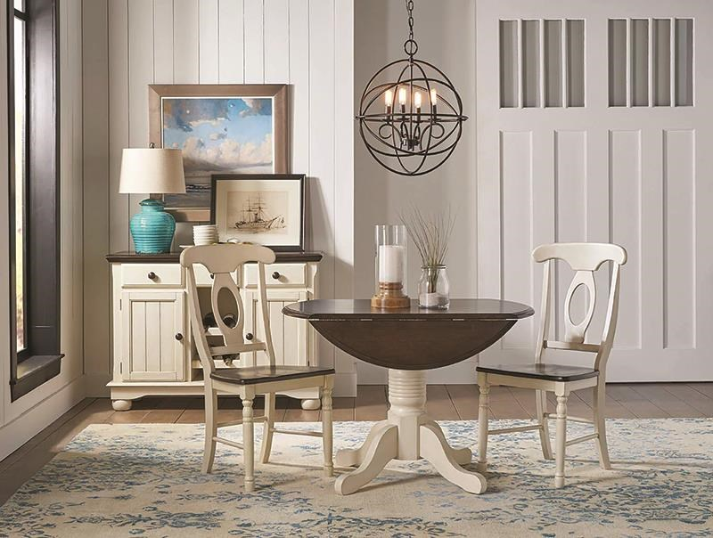 British Isles - CO Solid Wood 3 Piece Drop Leaf Table Set by AAmerica at Darvin Furniture