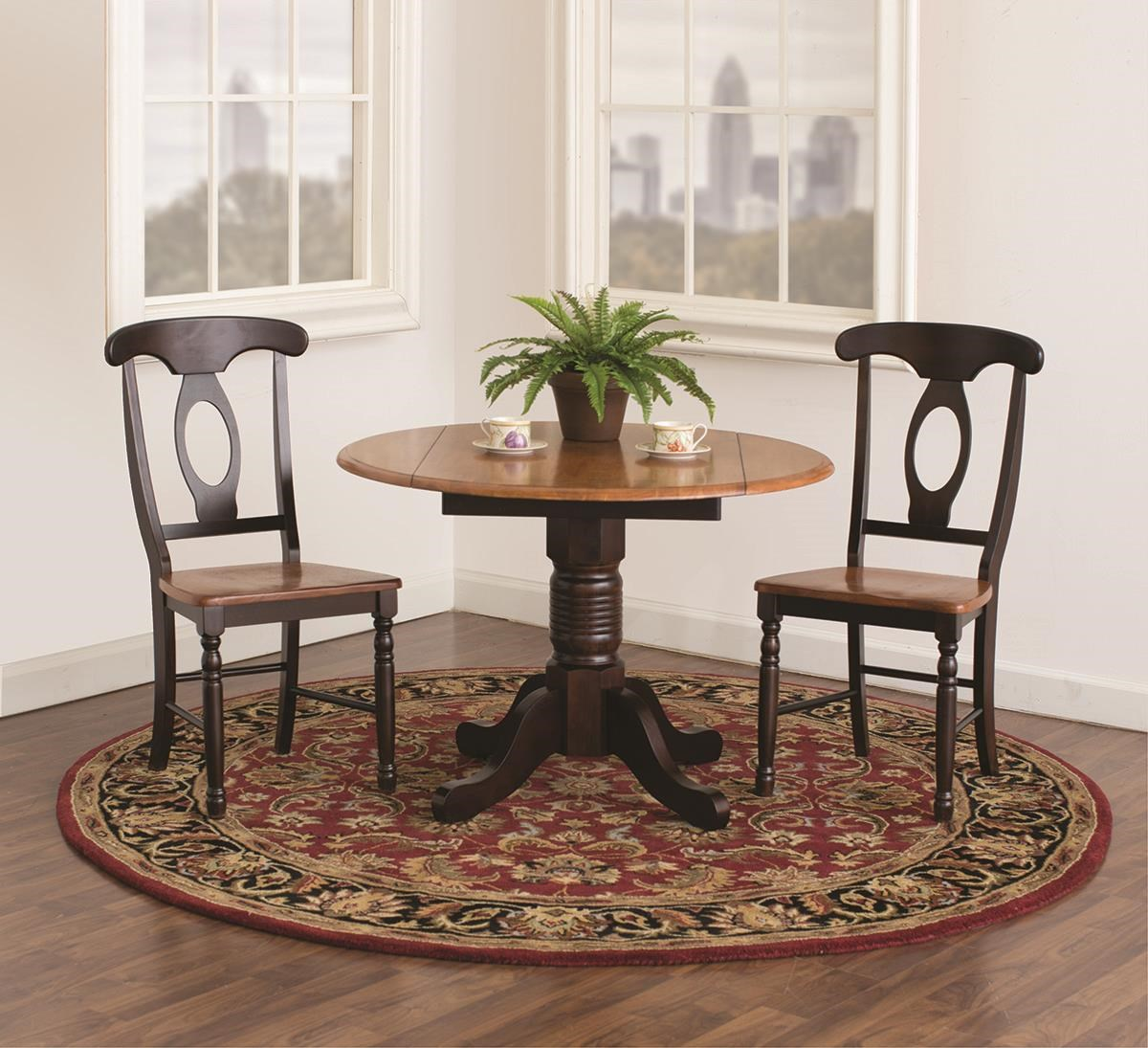 British Isles Solid Wood 3 Piece Drop Leaf Table Set by AAmerica at Darvin Furniture