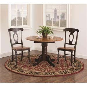 Solid Wood 3 Piece Drop Leaf Table Set