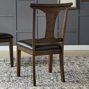 T-Back Side Chair With Upholstered Seat
