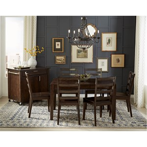 Square Dining Leg Table with Butterfly Leaf and Storage