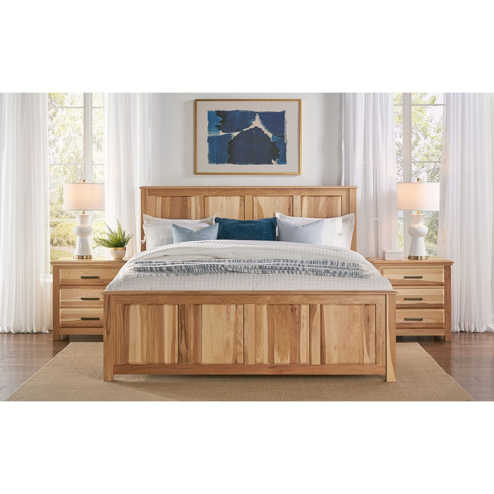 Camas Queen Panel Bed by A-A at Walker's Furniture