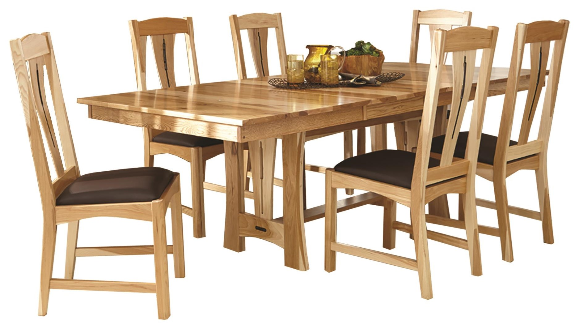 14409 5-Piece Trestle Table Dining Set at Sadler's Home Furnishings