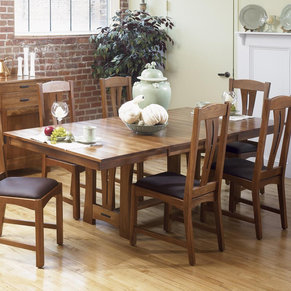 """Cattail Bungalow 42"""" x 60"""" Trestle Table by A-A at Walker's Furniture"""