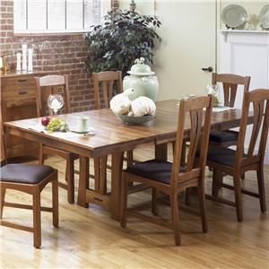 """42"""" x 60"""" Trestle Table w/ 2-18"""" Leaves"""