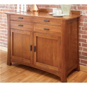 AAmerica Cattail Bungalow 4 Drawer 2 Door Sideboard