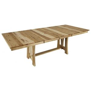 "42"" x 60"" Trestle Table w/ 2-18"" Leaves"