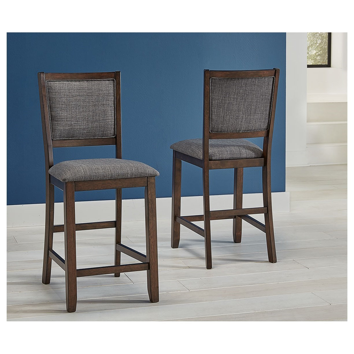 Chesney Upholstered Bar Stool  by A-A at Walker's Furniture