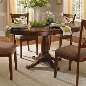 Transitional Oval Pedestal Table with 18 Inch Leaf