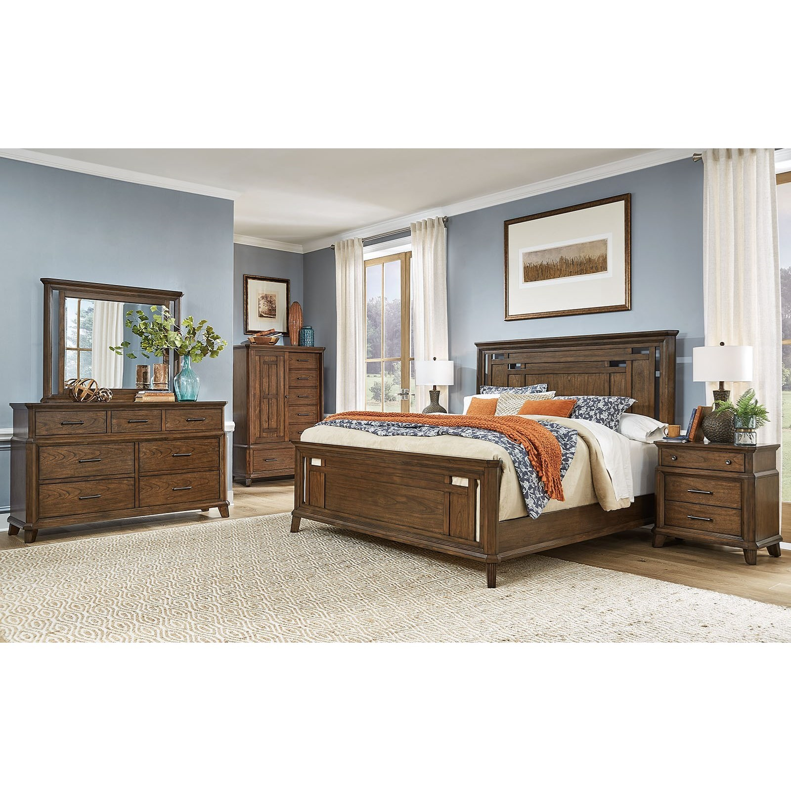 Filson Creek King Bedroom Group  by AAmerica at Gill Brothers Furniture