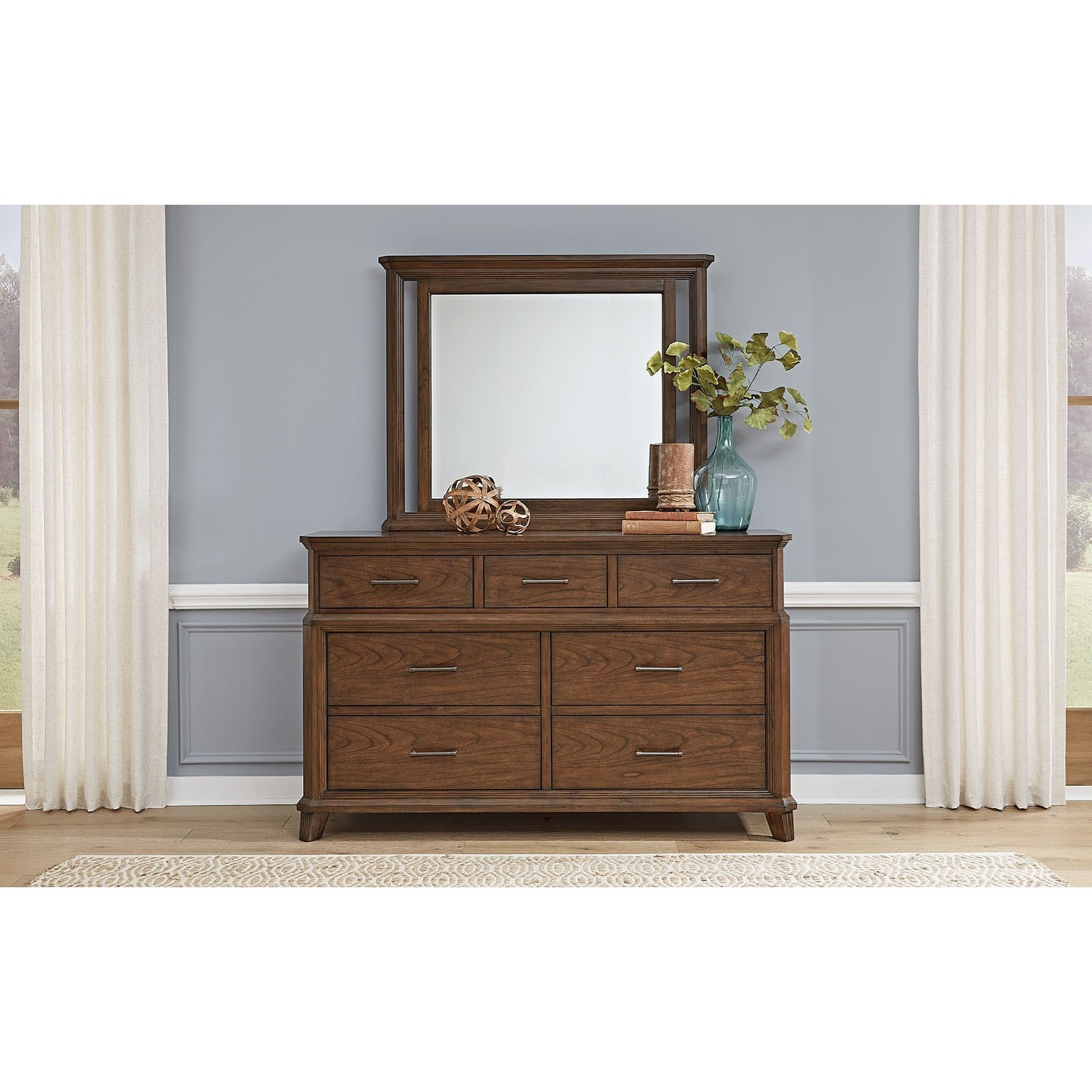 Filson Creek Dresser and Mirror Set by A-A at Walker's Furniture