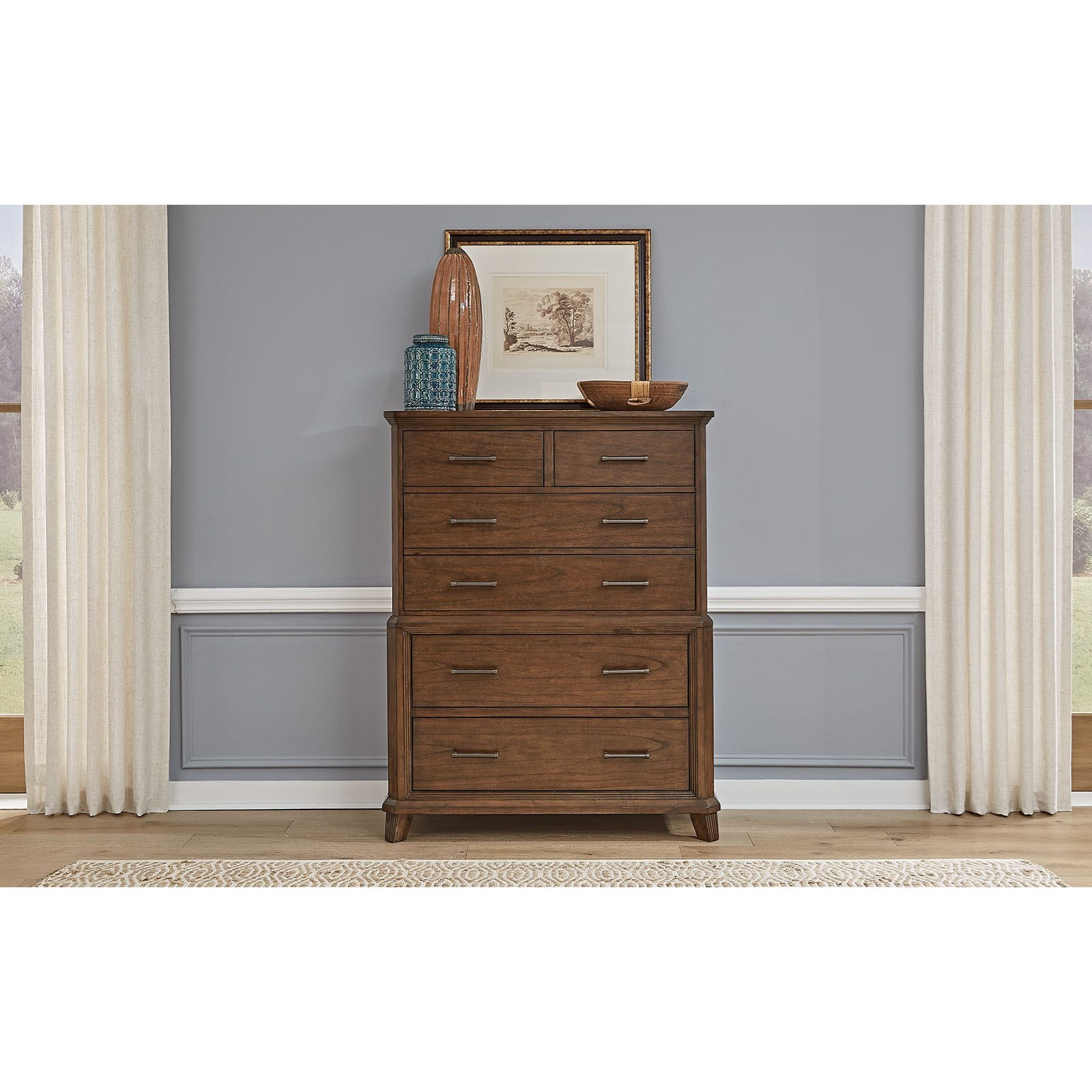 Filson Creek 6-Drawer Chest by A-A at Walker's Furniture