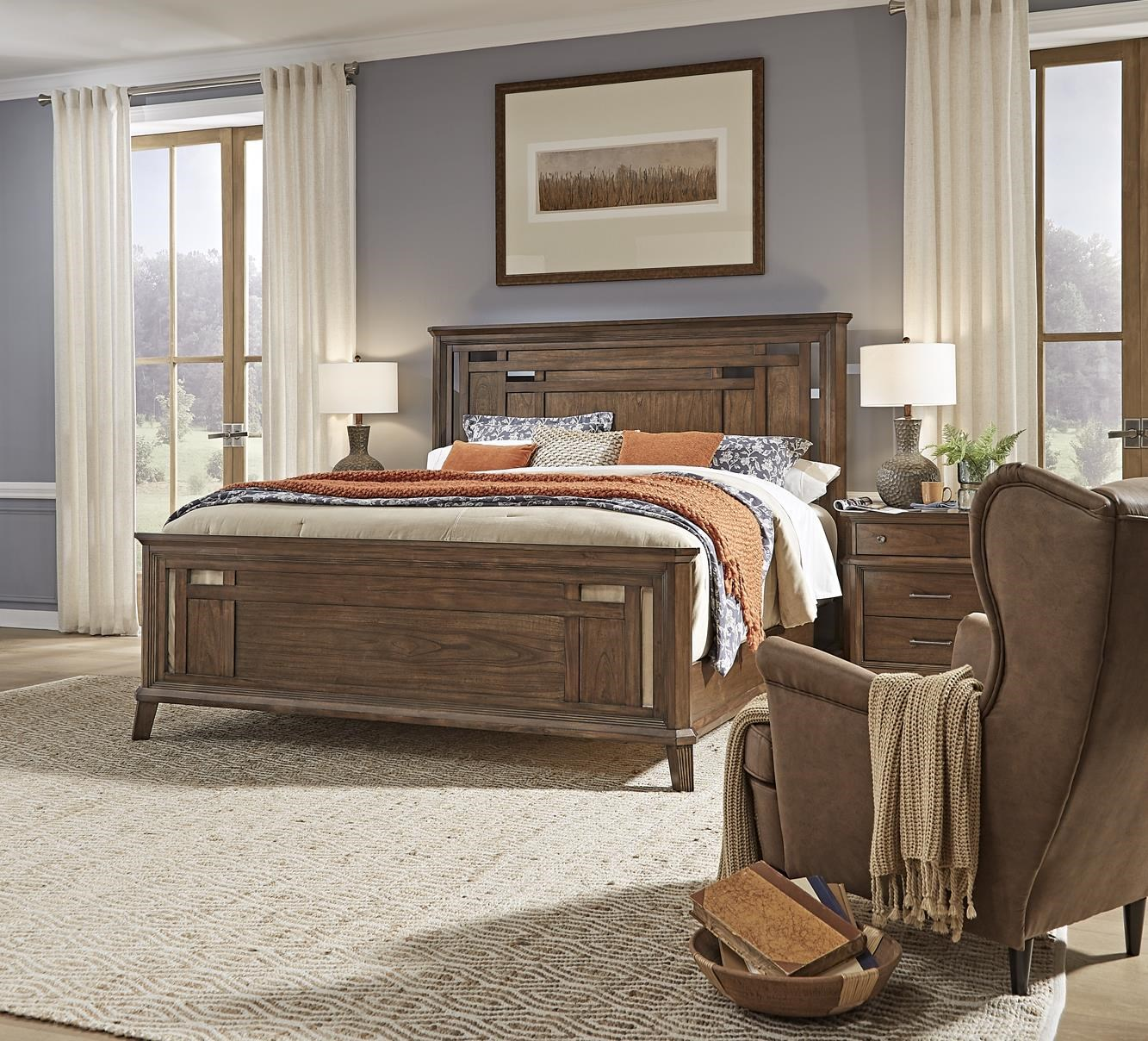 Filson Creek King Panel Bed by AAmerica at Sam Levitz Furniture