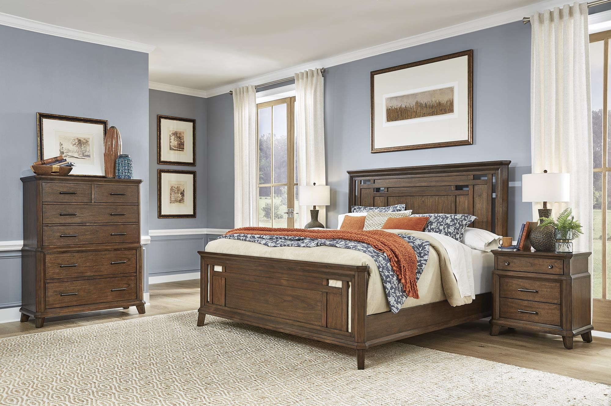 Filson Creek 5 Piece King Bedroom Set by AAmerica at Sam Levitz Furniture