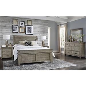 Queen Bed Set, Night Stand, Dresser, Mirror