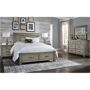King Storage, Nightstand, Dresser, Mirror