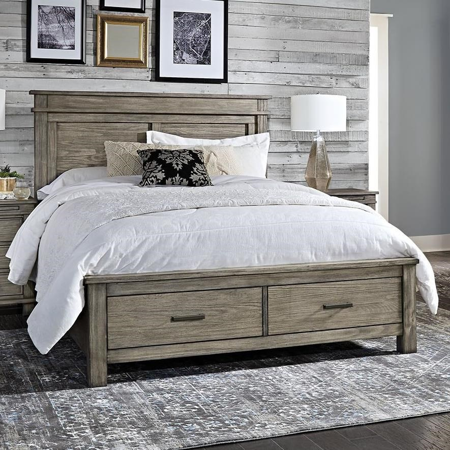 Glacier Point Queen Storage Bed by AAmerica at Van Hill Furniture