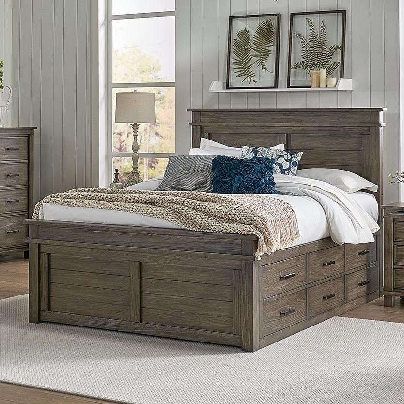 Glacier Point Queen Captain Bed by AAmerica at Darvin Furniture