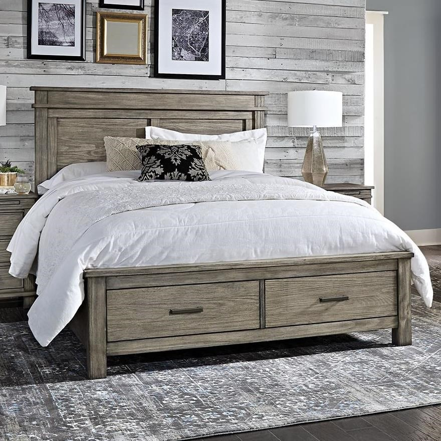 Glacier Point Cal King Storage Bed by A-A at Walker's Furniture