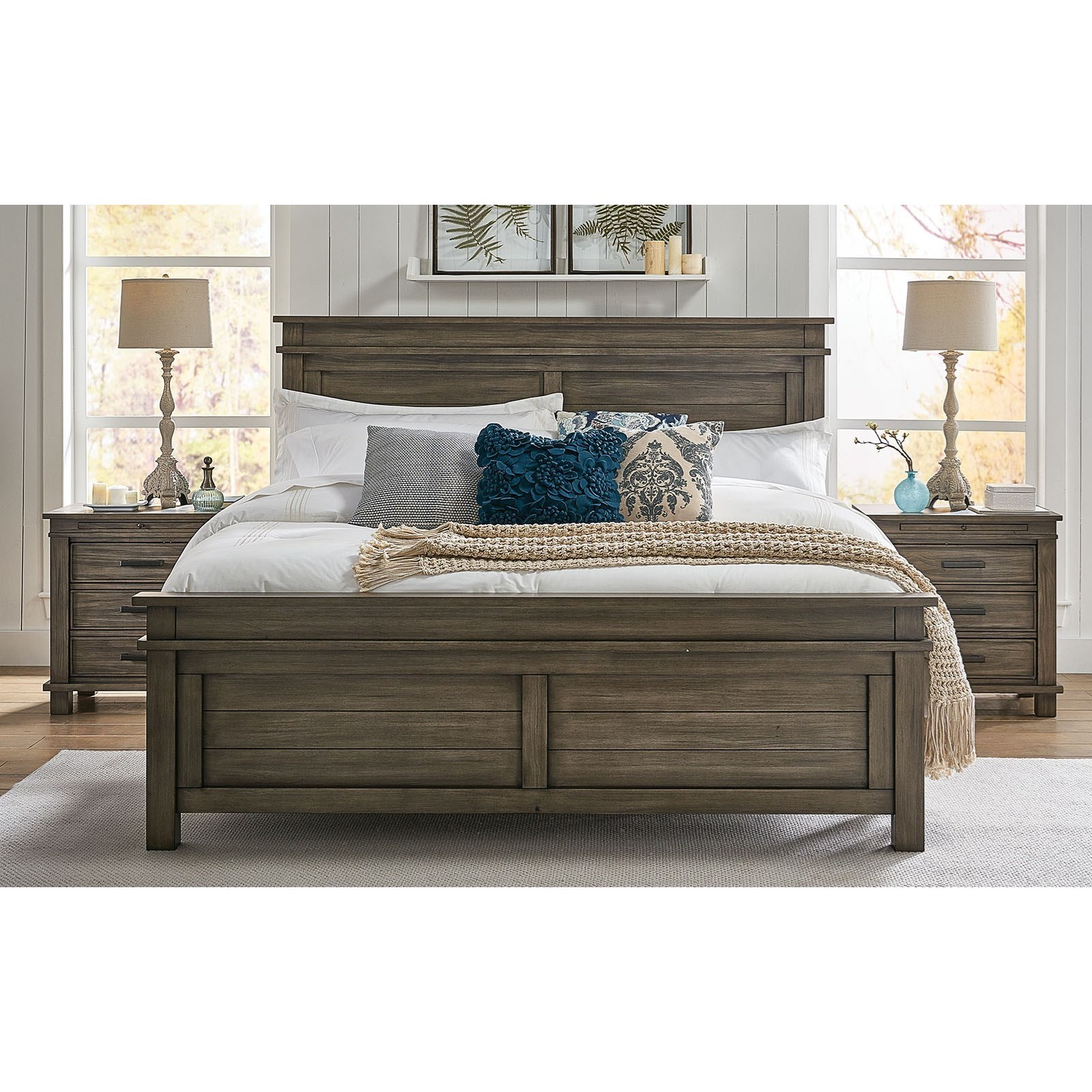 Glacier Point Twin Panel Bed by A-A at Walker's Furniture