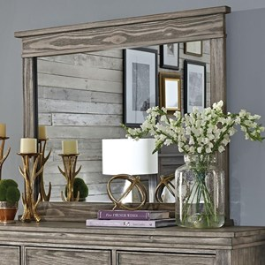 Transitional Dresser Mirror with Solid Wood Frame