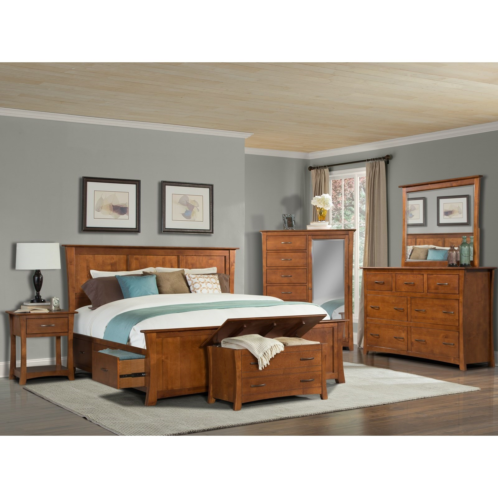 Grant Park King Bedroom Group by A-A at Walker's Furniture