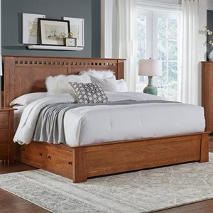 Transitional Solid Wood King Storage Bed