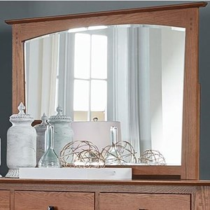 Transitional Mirror with Solid Wood Frame