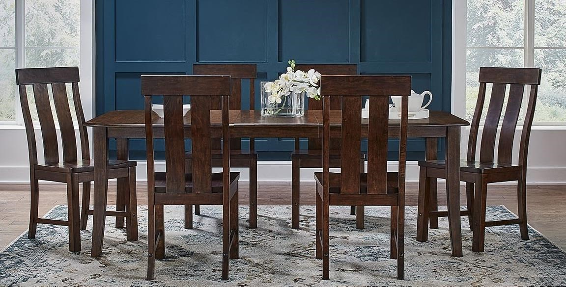 Henderson 7-Piece Wood Leg Table and Chair Set by A-A at Walker's Furniture