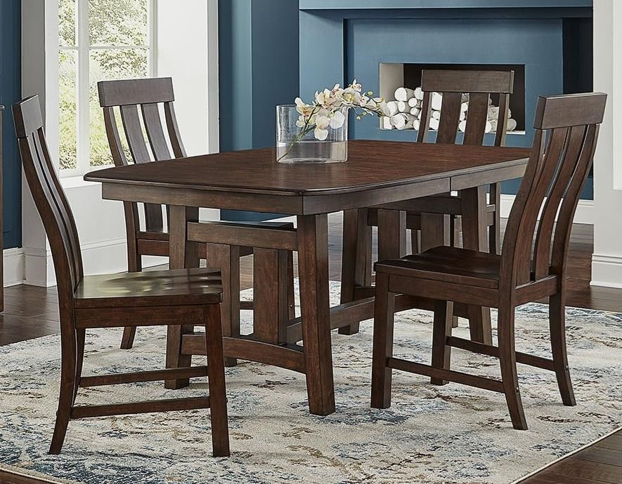 Henderson 5-Piece Trestle Table and Chair Set by A-A at Walker's Furniture