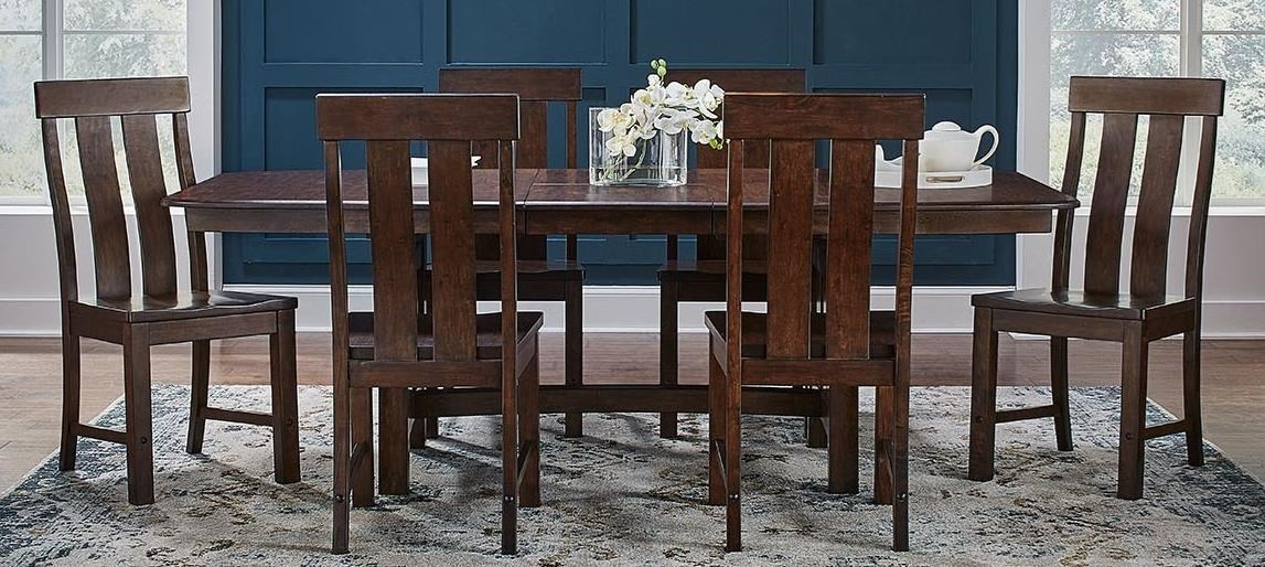 Henderson 7-Piece Trestle Table and Chair Set by A-A at Walker's Furniture