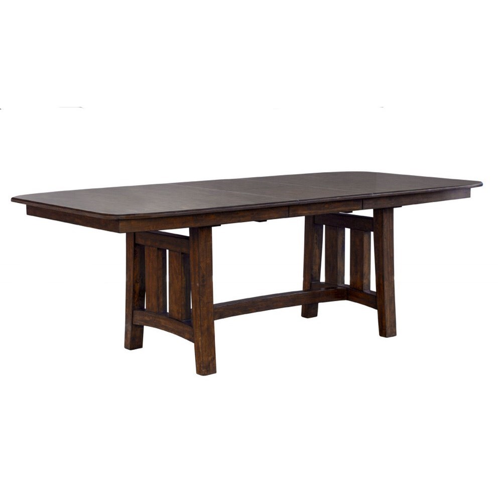 Henderson Rectangular Butterfly Leaf Trestle Table by A-A at Walker's Furniture