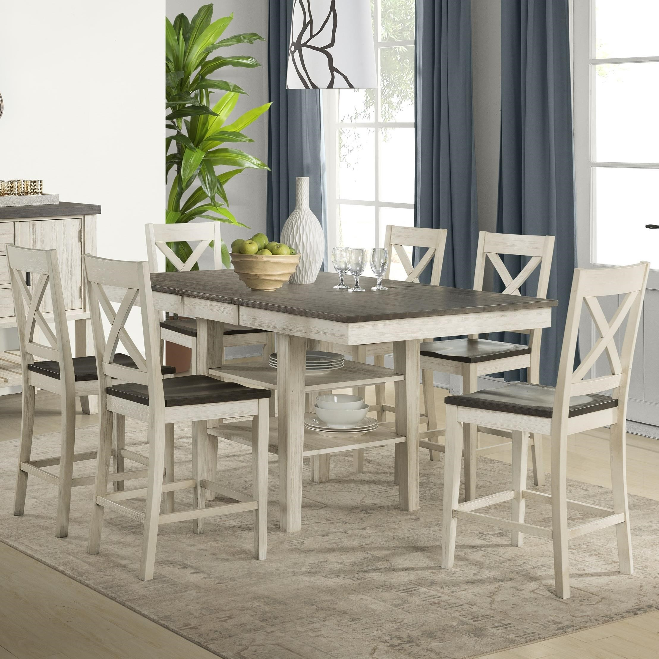 Huron Transitional Counter Height Table and Chair by AAmerica at Johnny Janosik