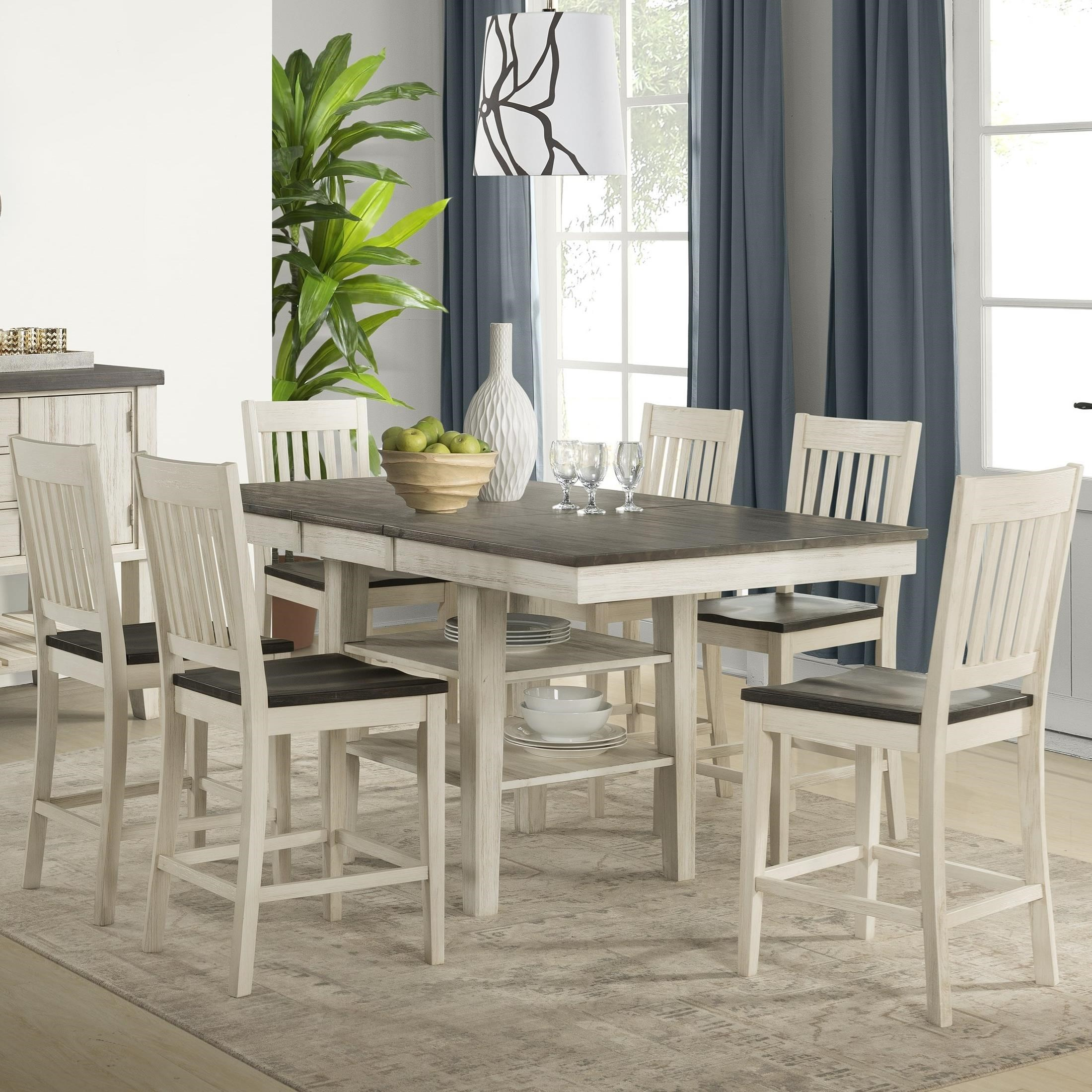 Huron Transitional Pub Table and Chair Set by AAmerica at Johnny Janosik