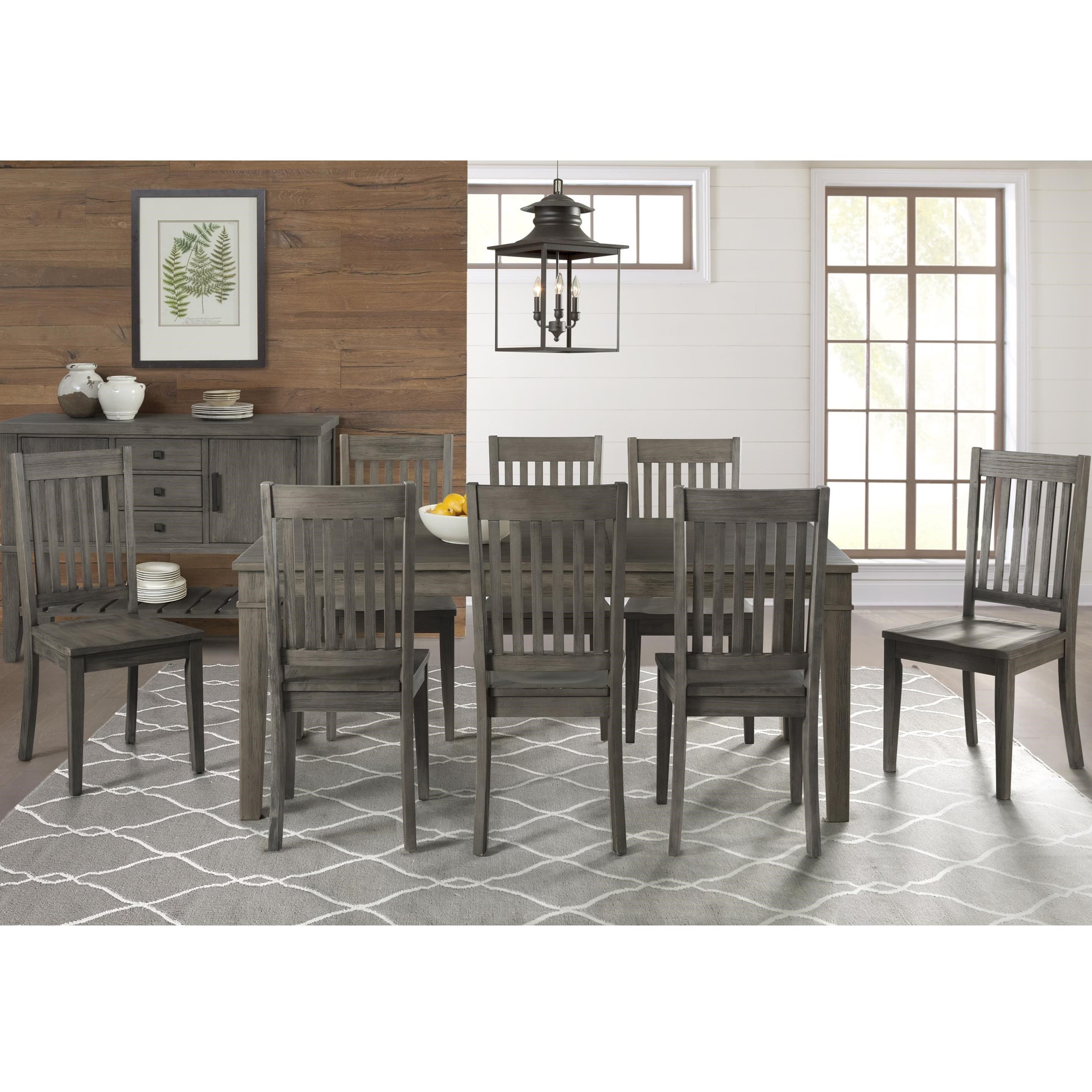 Huron Transitional Table and Chair Set by AAmerica at Mueller Furniture