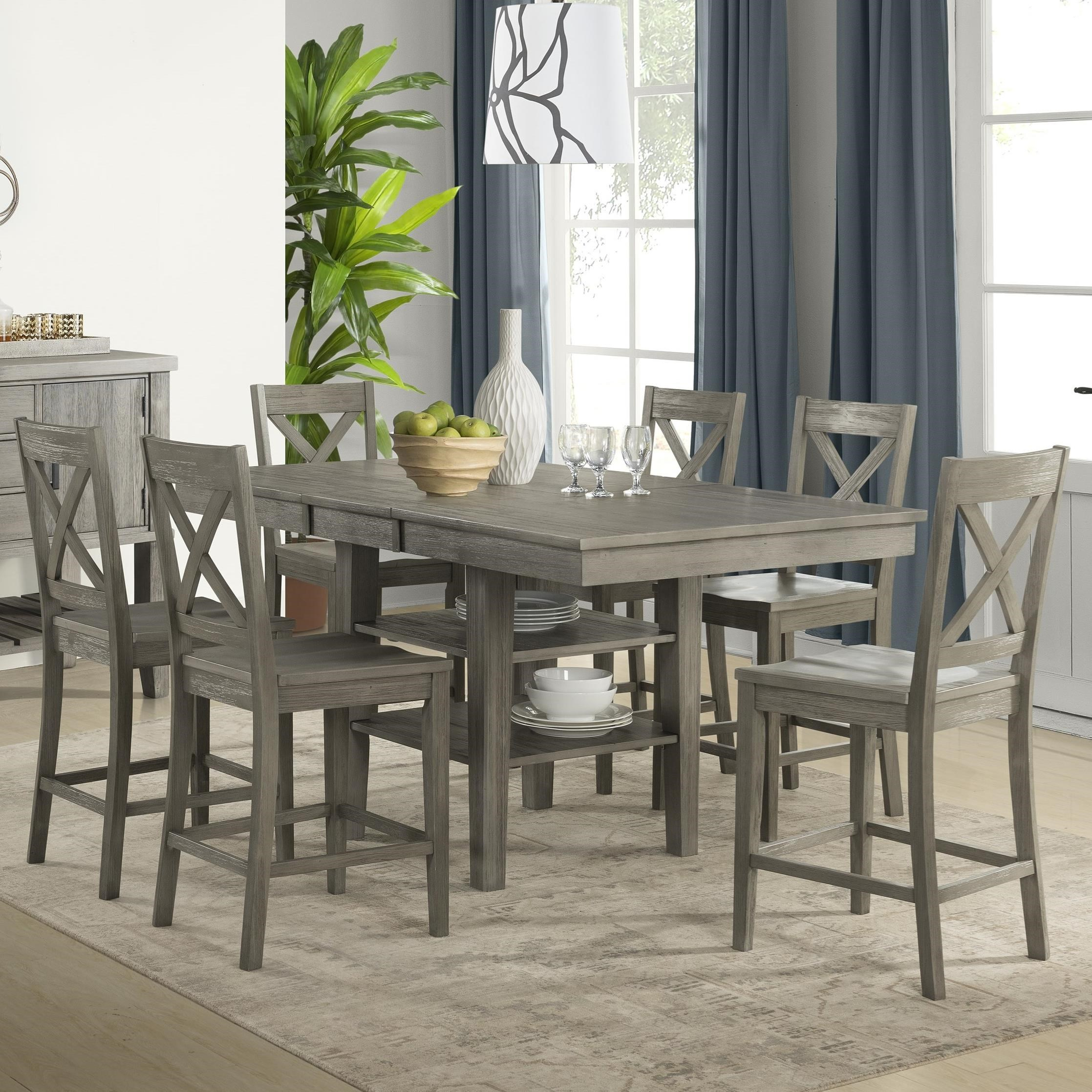 Huron Transitional Counter Height Table and Chair  by A-A at Walker's Furniture