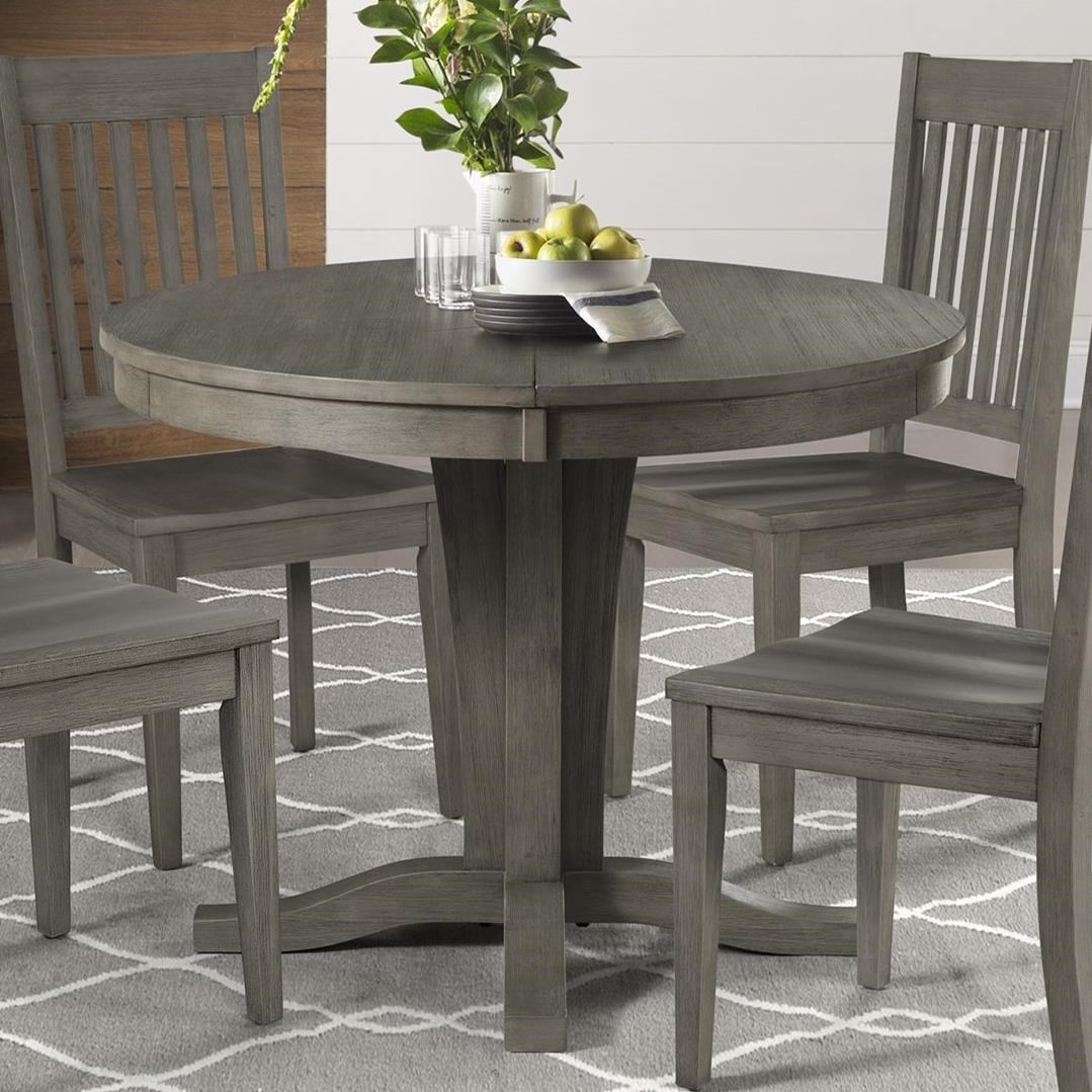 Huron Round Pedestal Table by AAmerica at Johnny Janosik