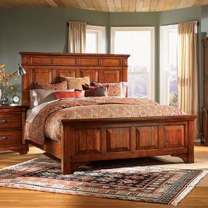 AAmerica Kalispell Queen Wood Mantel Bed