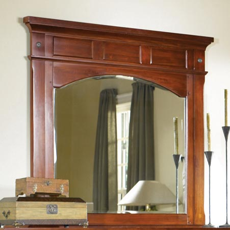 Kalispell Solid Mahogany Mirror by A-A at Walker's Furniture