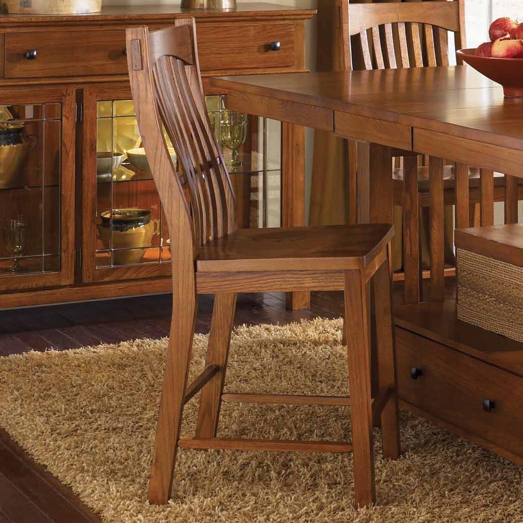 Laurelhurst Slatback Barstool by AAmerica at Mueller Furniture