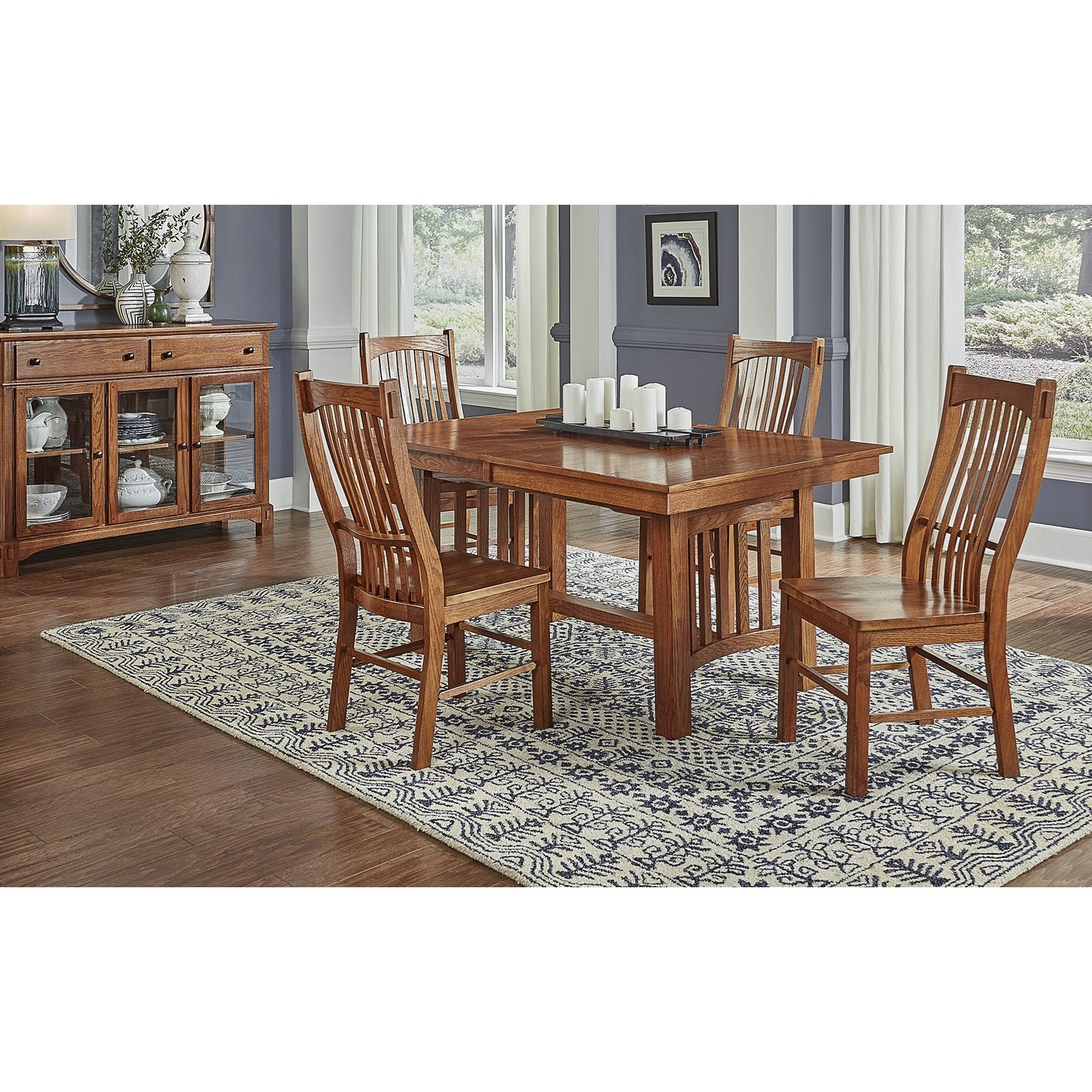 Laurelhurst 5-Piece Dining Table & Chair Set by A-A at Walker's Furniture