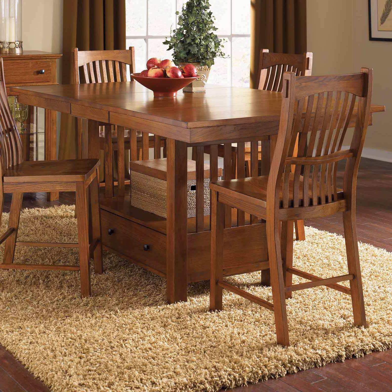 "Laurelhurst 42"" x 56"" Rectangular Gathering Table by A-A at Walker's Furniture"
