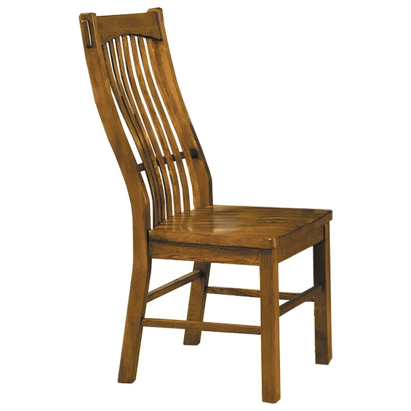 Laurelhurst Slatback Dining Chair  by A-A at Walker's Furniture